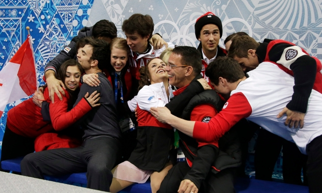More Kiss n' Cry antics from Team Canada.