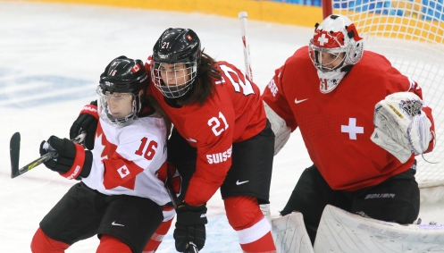 Canada's women's hockey team plays Switzerland
