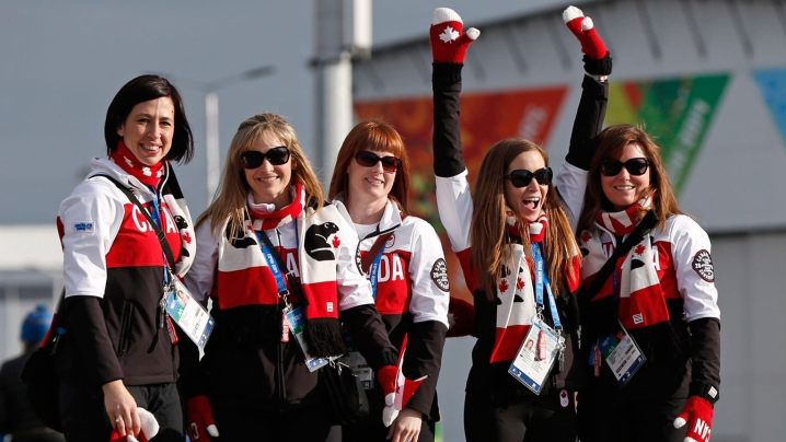 Team Jennifer Jones at Sochi 2014.