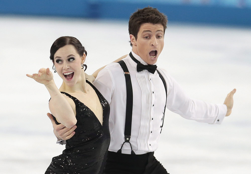 Tessa Virtue and Scott Moir during ice dance competition in Sochi.