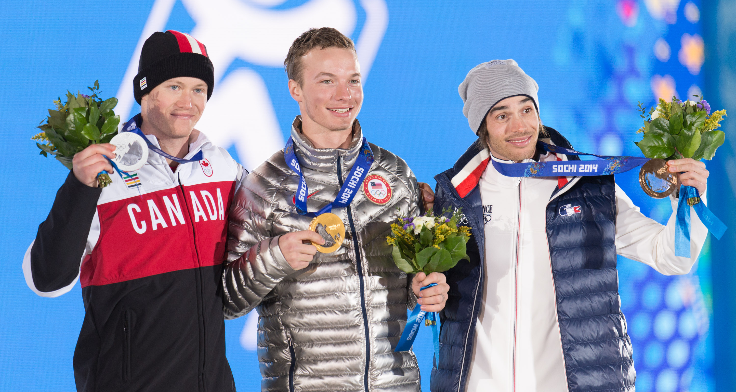 Medal Ceremony - Freestyle Skiing