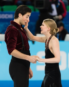 Canada's Kaitlyn Weaver and Andrew Poje after competing