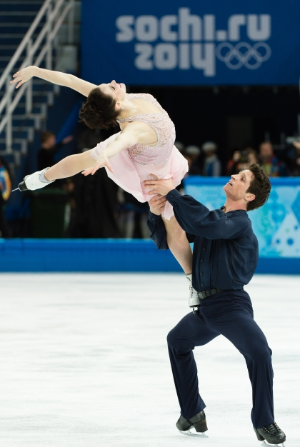 Tessa and Scott during a routine