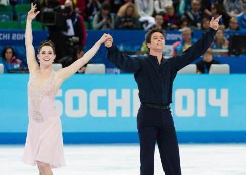 Tessa and Scott competing