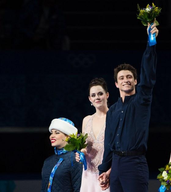 Tessa and Scott on the podium