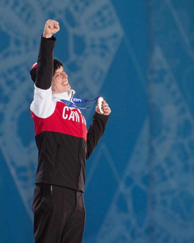 Athlete on the podium