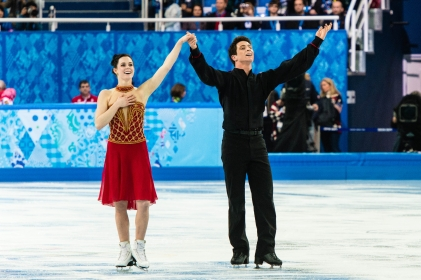 Tessa Virtue and Scott Moir