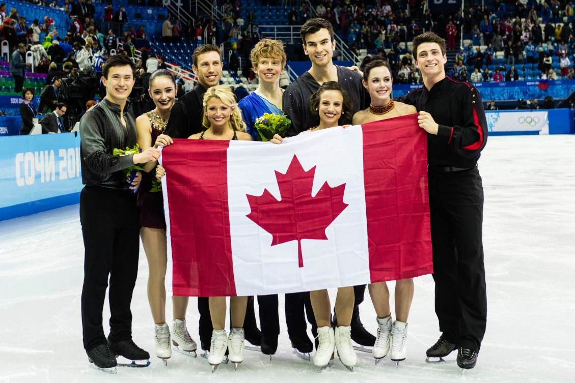 Team Canada wins silver at the figure skating team event.