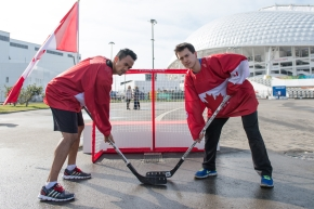 Gilmore Junio and Patrick Chan ready to face off