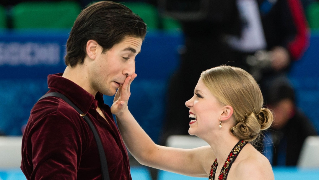 Kaitlyn Weaver and Andrew Poje at Sochi 2014