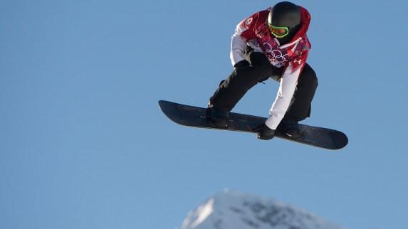 Mark Mcmorris getting air at Sochi 2014 (Photo: CP)