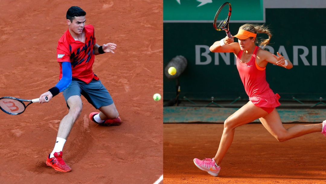 Raonic and Bouchard at French Open