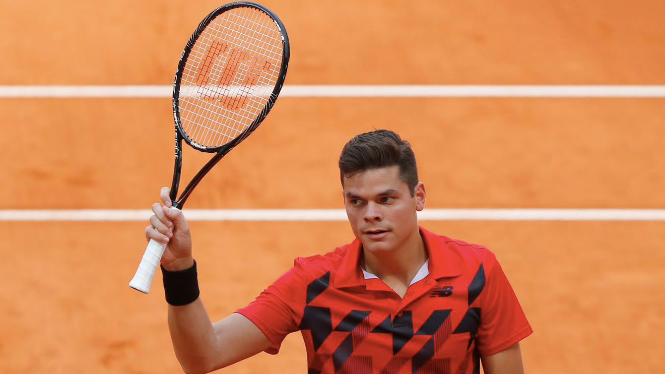 Milos Raonic was a French Open quarterfinalist this year.