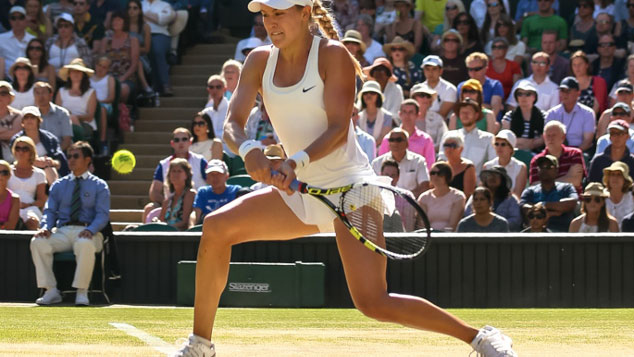 Eugenie Bouchard at Wimbledon 2014. Photo: Mauricio Paiz via Tennis Canada