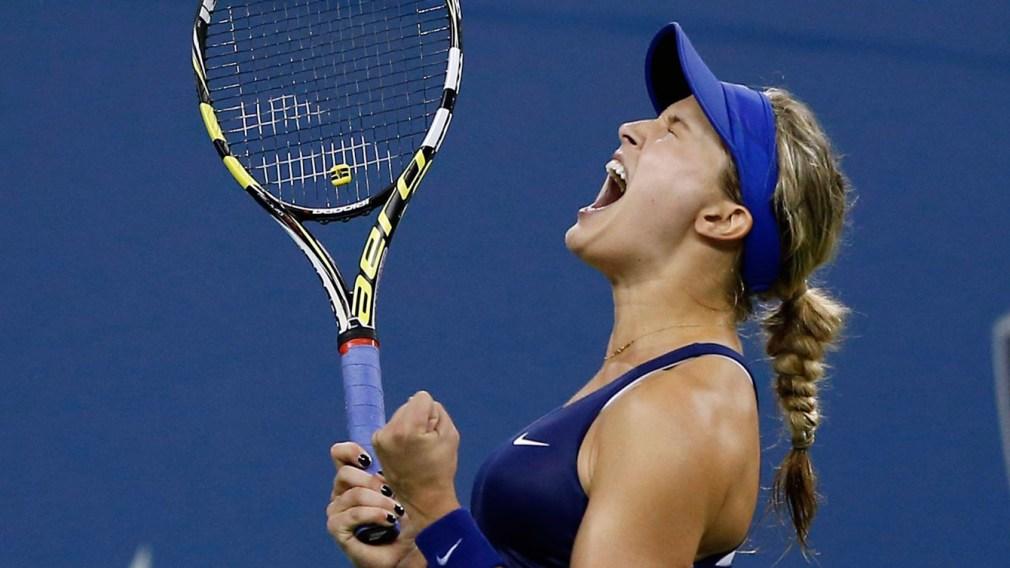 Bouchard beats Wozniacki, off to Wuhan final