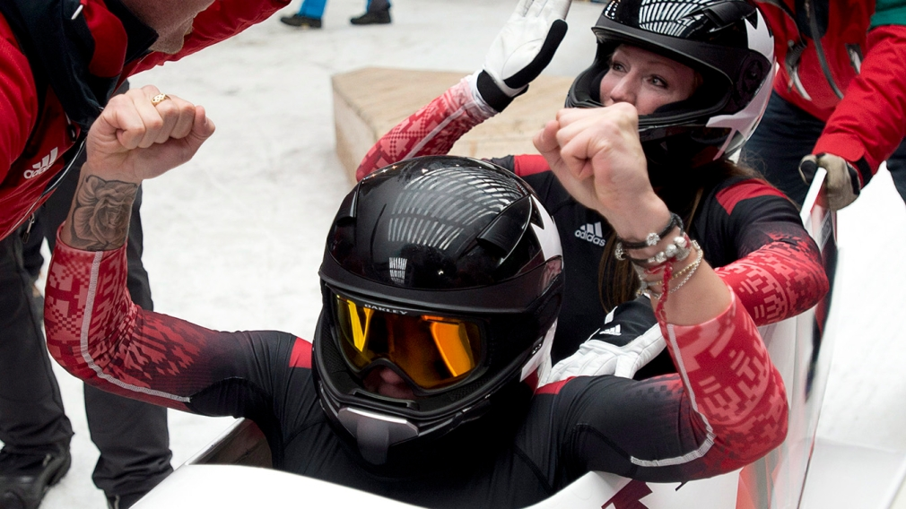"""""""I could not be happier"""": Kaillie Humphries reacts to mixed gender bobsleigh"""