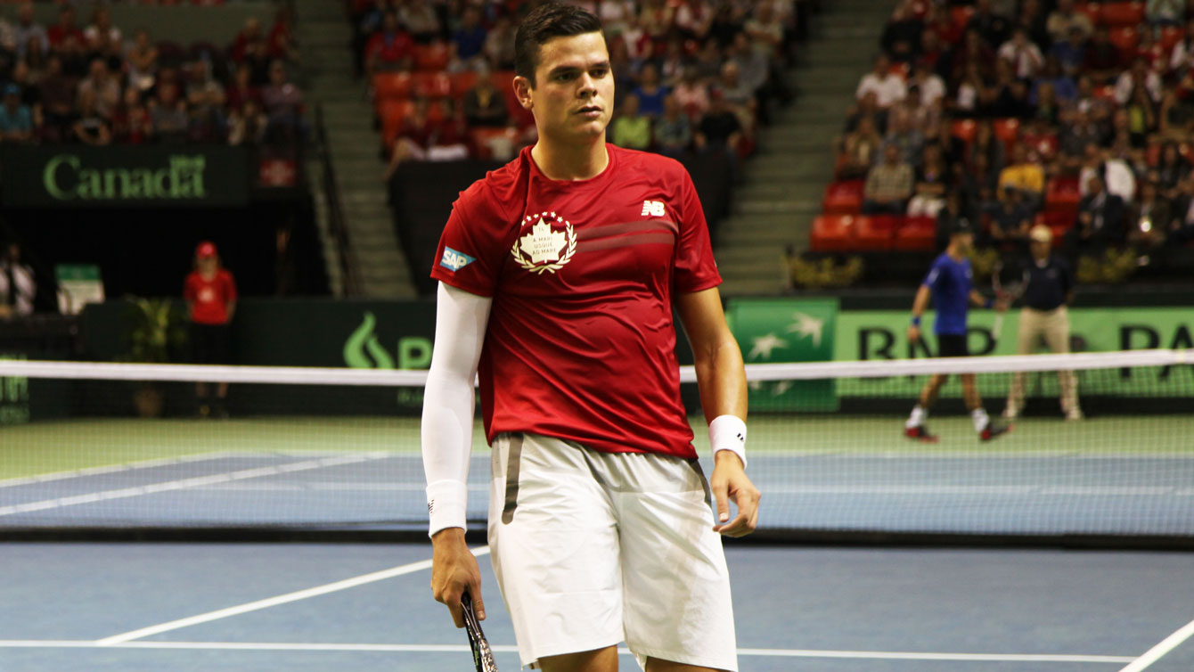 Milos Raonic was in control of the match against Santiago Giraldo from the start.