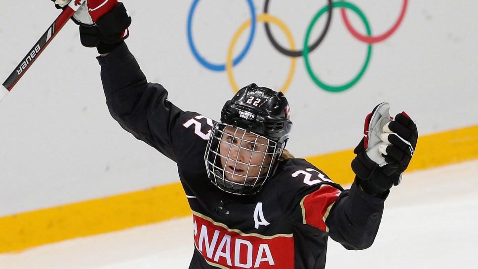 Hayley Wickenheiser at Sochi 2014.