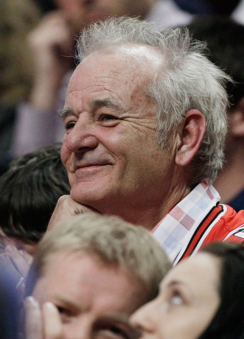 Bill Murray supporting his Bulls. Photo: CP