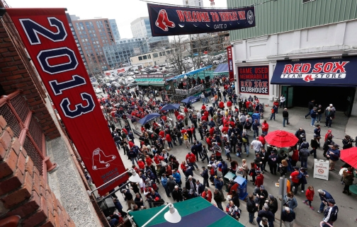 Outside Fenway park. Photo: CP
