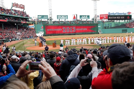 Fans celebrate the 2013 World Series Champion Red Sox. Photo: CP