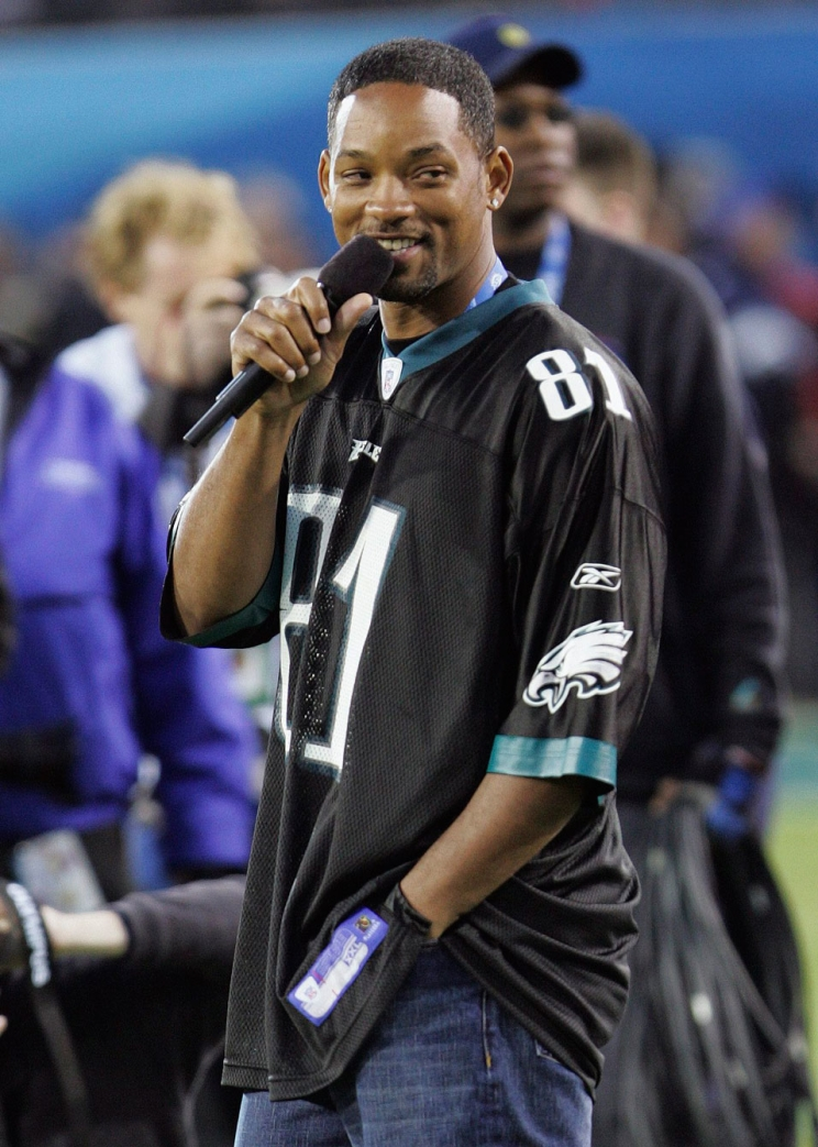 Will Smith supporting his Eagles before Super Bowl XXXIX. Photo: CP