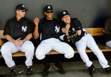 Billy Crystal laughing it up with Alex Rodriguez. Photo: CP