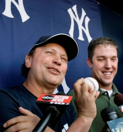 Billy Crystal doing a post-game interview. Photo: CP