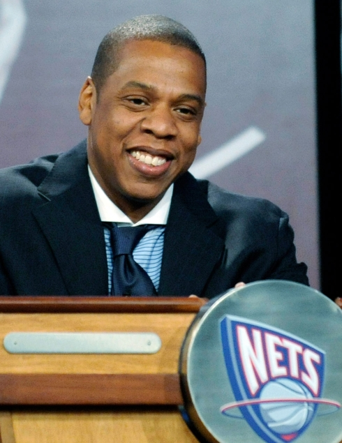 Jay-Z represents the Nets during the 2008 NBA Draft Lottery. Photo: CP