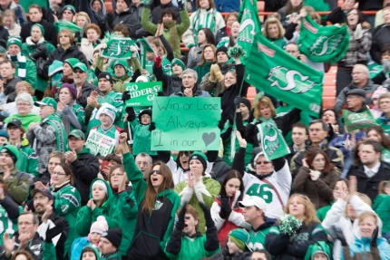 Fans at Mosaic Stadium. Photo: CP