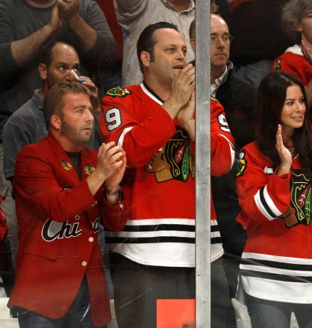 Vaughn is one of the biggest Blackhawk fans out there. Photo: CP