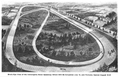 Indianapolis Motor Speedway prior to its grand opening in 1909. Photo: bit.ly/1tFfARD