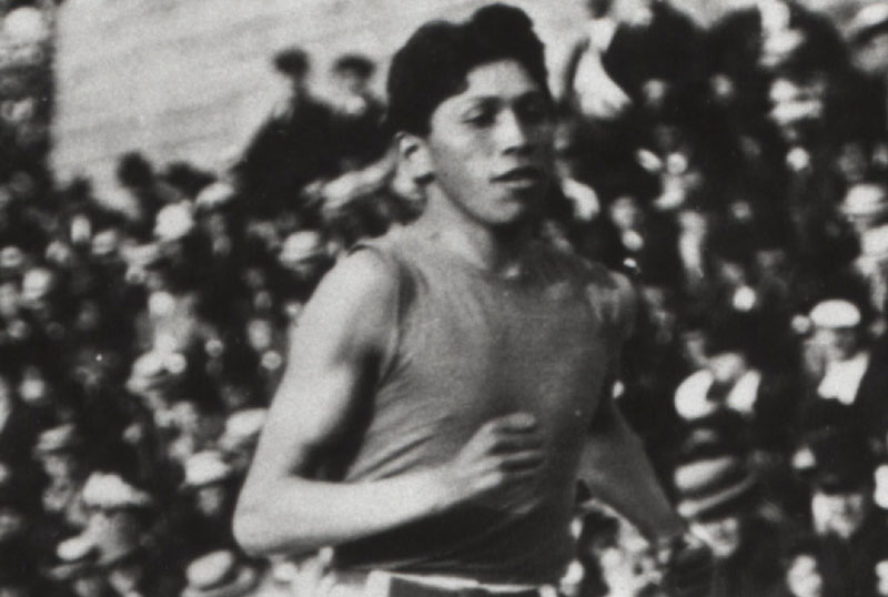 This is an undated Canadian Press photo of Tom Longboat, the only Canadian Olympian to actively take part in and survive WWI.