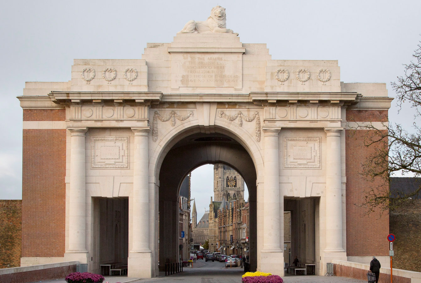 Menin Gate in Belgium where the WWI missing are immortalized.