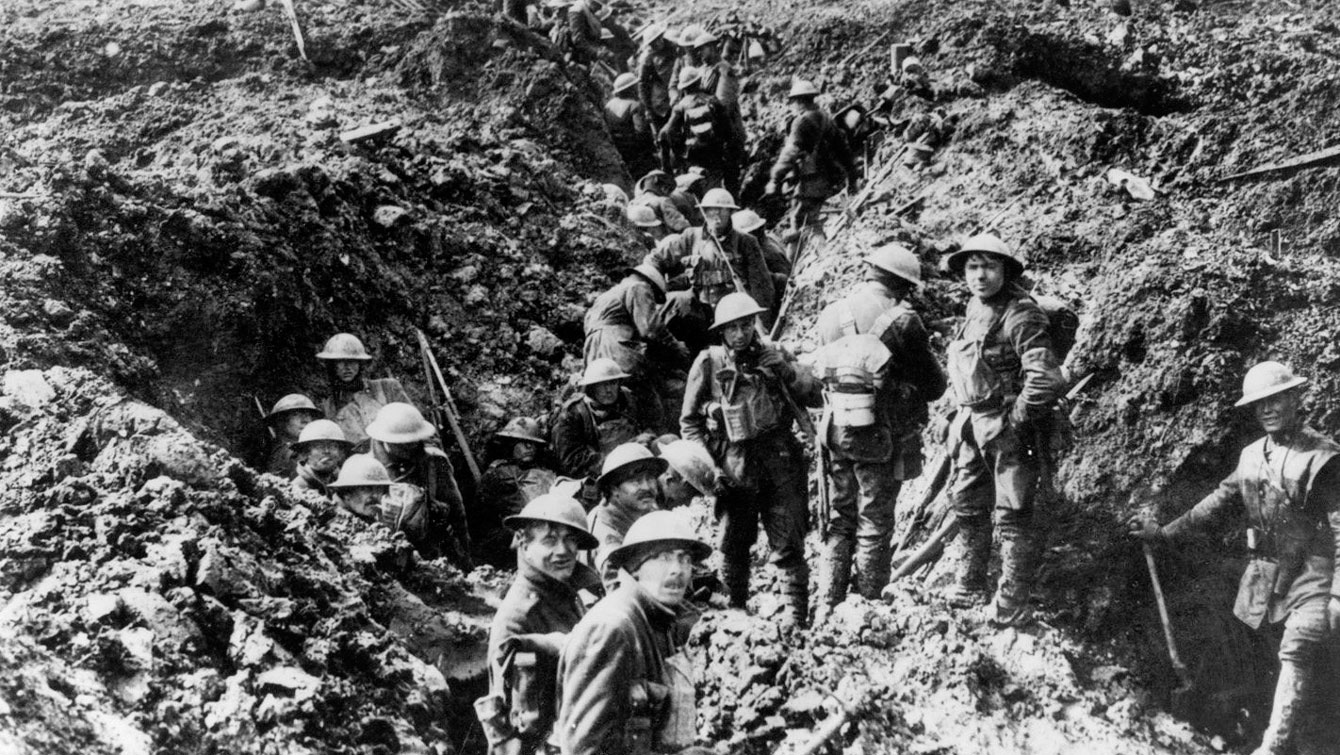 From Canadian Press: Canadian soldiers in the trenches at Vimy Ridge. The ridge was a German fortress, studded with concrete machine-gun nests, draped in kilometres of barbed wire and zeroed in by hundreds of guns and mortars.