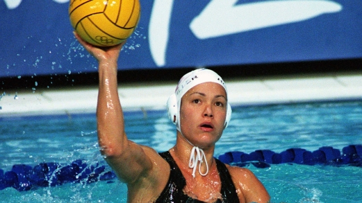 Canada's Waneek Horn-Miller participates in women's waterpolo preliminary action at the 2000 Sydney Olympic Games. (CP Photo/COC)