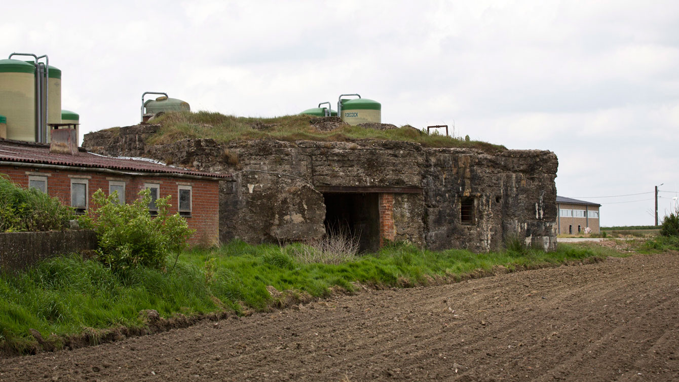 """From Canadian Press: World War I bunker known as """"Cheddar Villa"""" in St. Julien, Belgium. The bunker was a German strongpoint, which was taken on the opening day of the Third Ypres battle."""