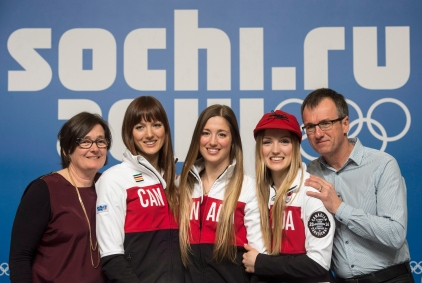 The Dufour-Lapointe family in Sochi