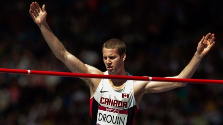 Derek Drouin took the high jump title with relative ease.