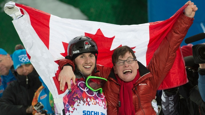 Frédéric is easily Alex Bilodeau's most enthusiastic supporter. The moguls Olympic champion beams whenever he talks about his brother.