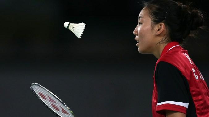 London 2012 Olympian Michelle Li bagged a badminton gold in Glasgow.