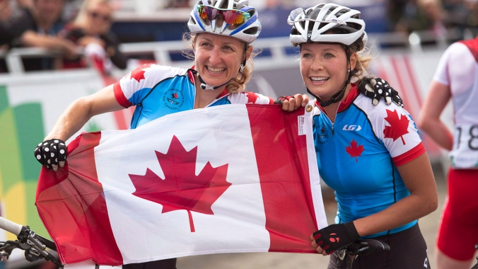 It was a 1-2 finish for mountain bikers Catharine Pendrel and Emily Batty at Glasgow.