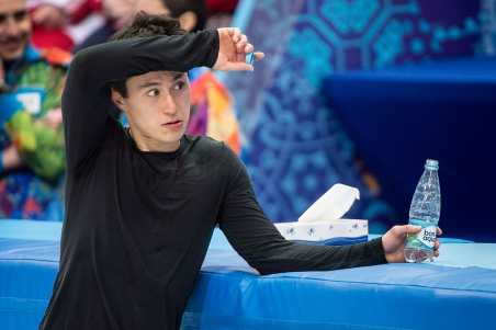Patrick Chan during training in Sochi.