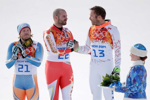 Jan Hudec during the flower ceremony in Sochi.