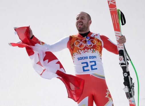 Jan Hudec celebrates in Sochi.