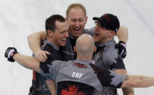 Canada won the gold medal in men's curling, the nation's third straight.