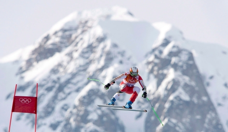 Jan Hudec during competition in Sochi.