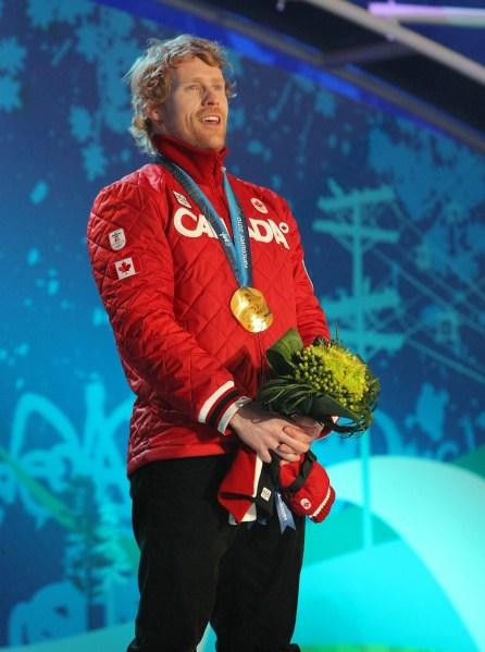 Jon Montgomery on Olympic podium