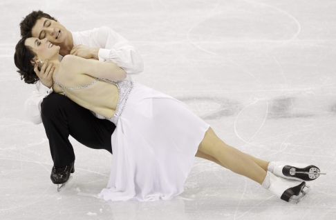 Canada's Tessa Virtue and Scott Moir performing their free dance during the ice dance figure skating competition at the Vancouver 2010 Olympics in Vancouver, British Columbia. (AP Photo/David J. Phillip,File)
