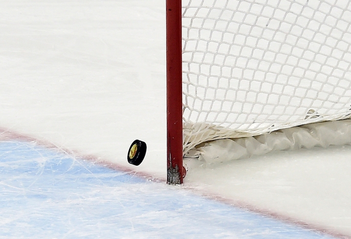 Canada survived an empty net goal thanks to this goal post.